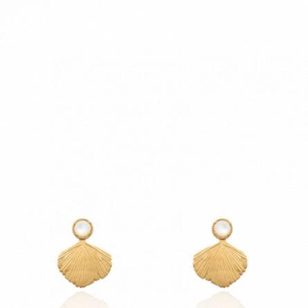 Boucles d'oreilles femme plaqué or B.oabderrafaie