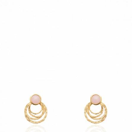 Boucles d'oreilles femme plaqué or B.osoupou