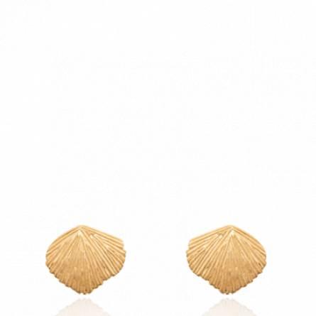 Boucles d'oreilles femme plaqué or B.overane