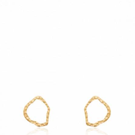Boucles d'oreilles femme plaqué or B.oyacoube