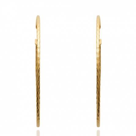 Boucles d'oreilles femme plaqué or Calefis ronde
