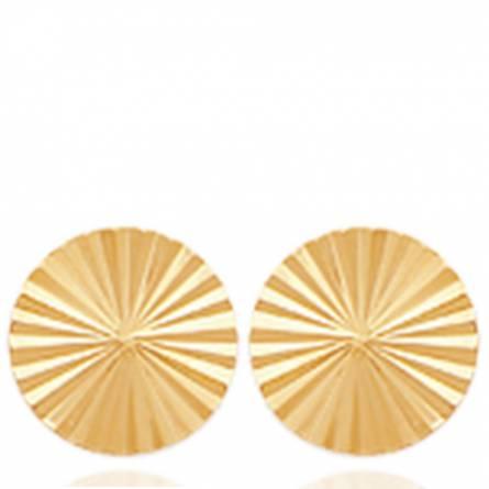 Boucles d'oreilles femme plaqué or Caleo ronde