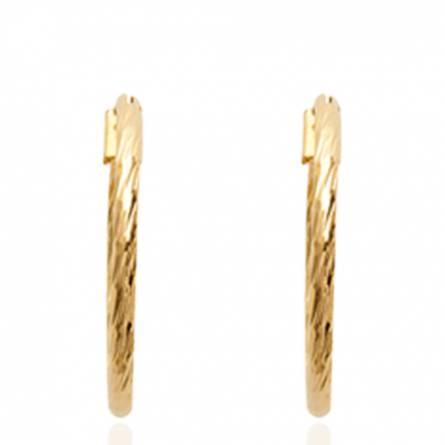 Boucles d'oreilles femme plaqué or Cérine ronde