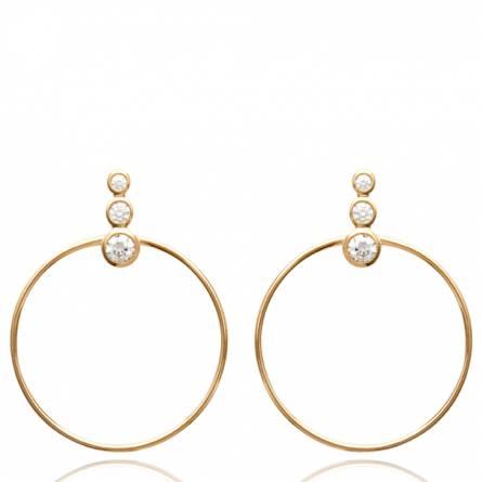 Boucles d'oreilles femme plaqué or Claresa ronde