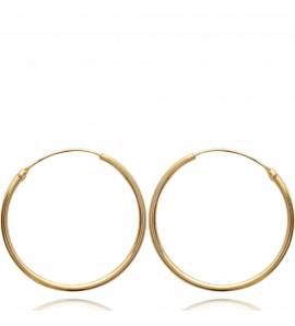 Boucles d'oreilles femme plaqué or Classique 3 cm créoles