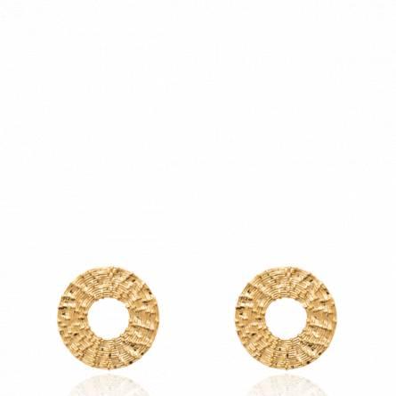 Boucles d'oreilles femme plaqué or Daiske ronde