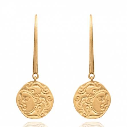 Boucles d'oreilles femme plaqué or Dakama ronde