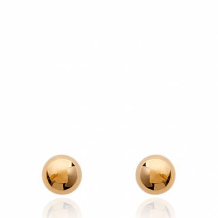 Boucles d'oreilles femme plaqué or Davinia ronde