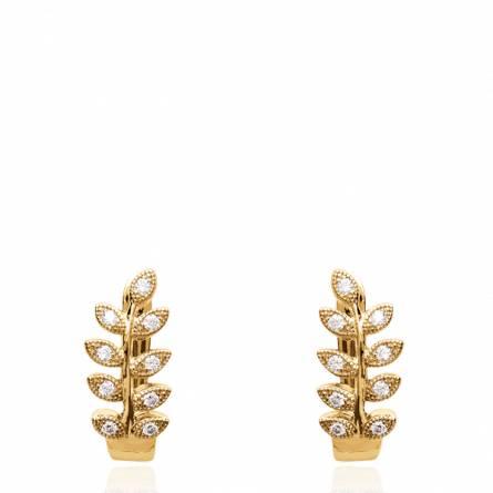 Boucles d'oreilles femme plaqué or Denera ronde