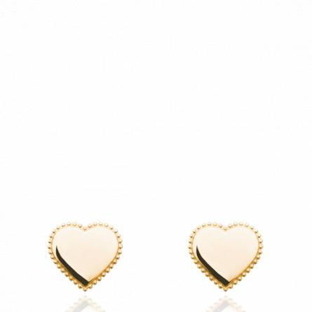 Boucles d'oreilles femme plaqué or Elisiora coeur