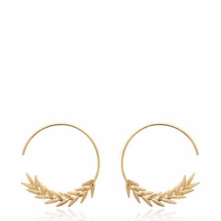 Boucles d'oreilles femme plaqué or Epy ronde