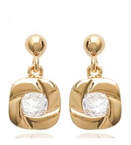Boucles d'oreilles femme plaqué or Erinha carrée