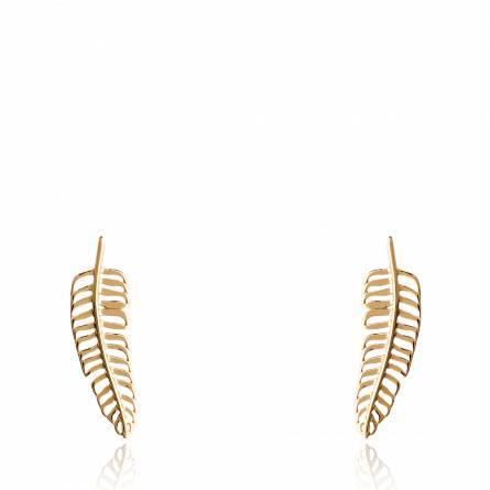 Boucles d'oreilles femme plaqué or Evilia