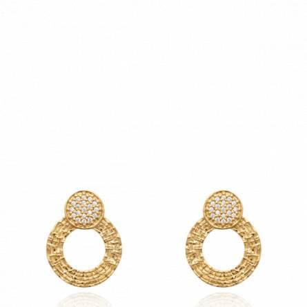 Boucles d'oreilles femme plaqué or Extia ronde