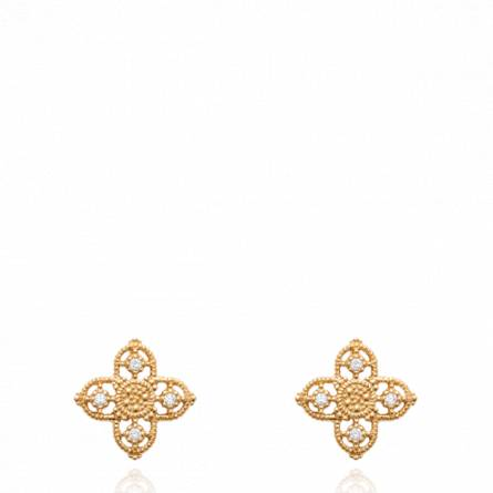 Boucles d'oreilles femme plaqué or Fardi