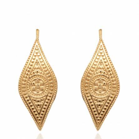 Boucles d'oreilles femme plaqué or Feria
