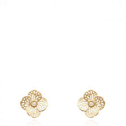 Boucles d'oreilles femme plaqué or Folesia