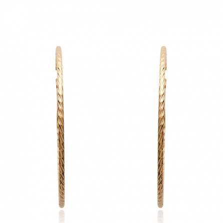 Boucles d'oreilles femme plaqué or Héfira ronde