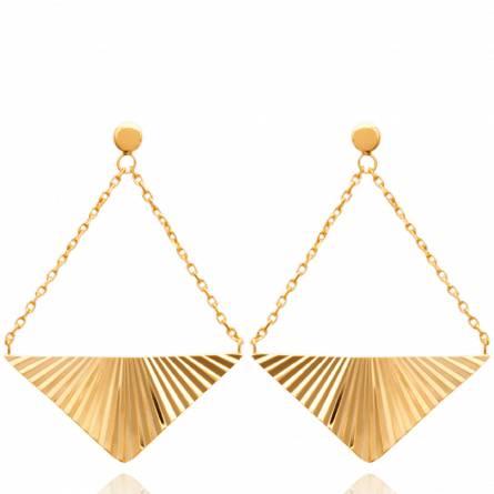 Boucles d'oreilles femme plaqué or Haidee triangle