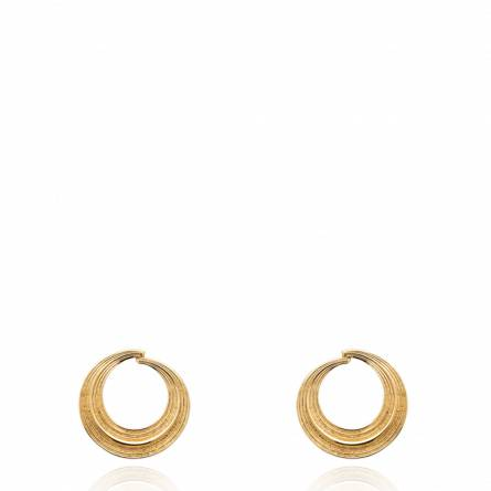 Boucles d'oreilles femme plaqué or Haliea ronde