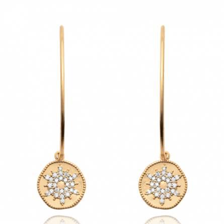 Boucles d'oreilles femme plaqué or Hellaria ronde
