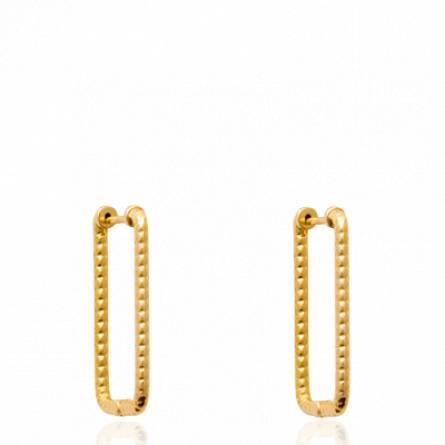 Boucles d'oreilles femme plaqué or Houssaine créoles
