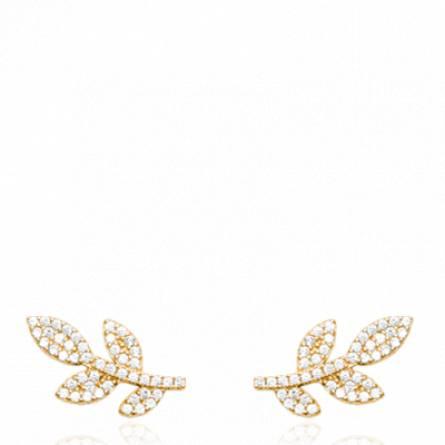 Boucles d'oreilles femme plaqué or Itoria