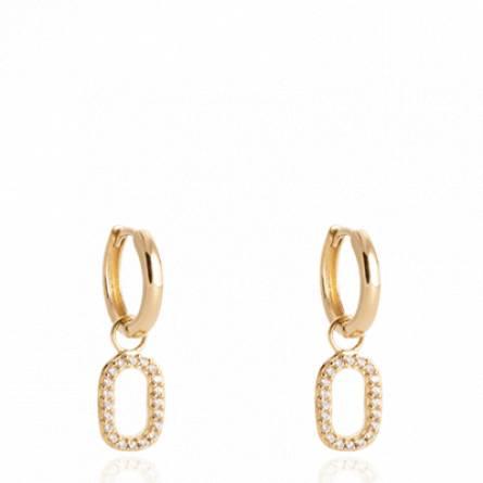 Boucles d'oreilles femme plaqué or Jomeer créoles