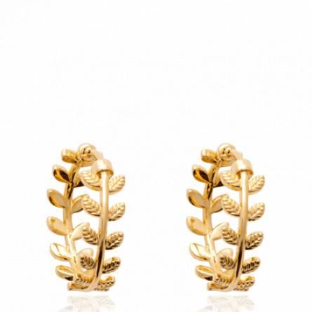 Boucles d'oreilles femme plaqué or Karolane créoles