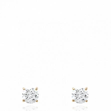 Boucles d'oreilles femme plaqué or Kerna carrée