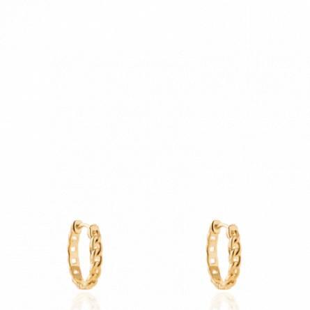 Boucles d'oreilles femme plaqué or Larmena créoles