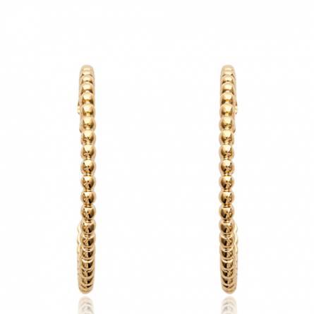 Boucles d'oreilles femme plaqué or Linada ronde