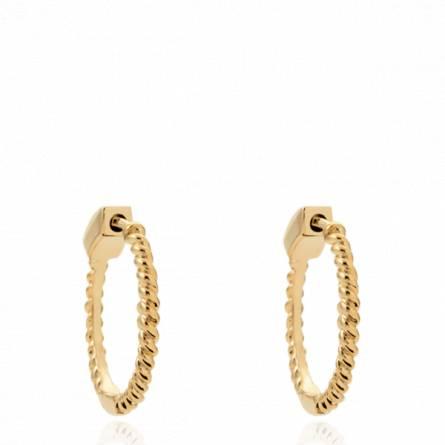 Boucles d'oreilles femme plaqué or Lirdite créoles