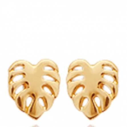 Boucles d'oreilles femme plaqué or Lyvia