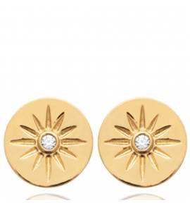 Boucles d'oreilles femme plaqué or Masya ronde