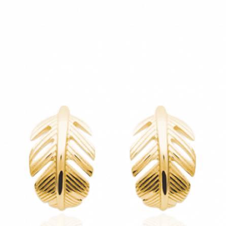 Boucles d'oreilles femme plaqué or Merry