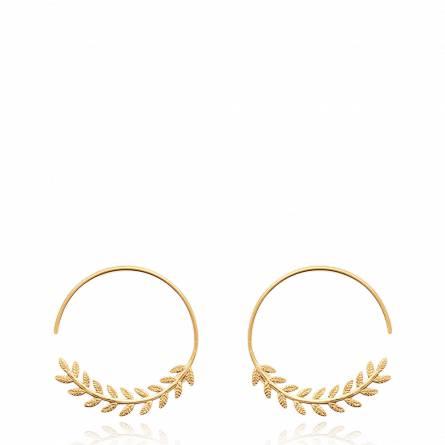 Boucles d'oreilles femme plaqué or Mikela ronde