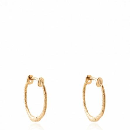 Boucles d'oreilles femme plaqué or Mirah créoles