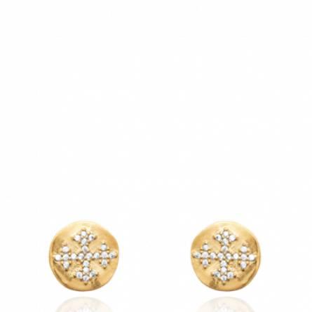 Boucles d'oreilles femme plaqué or Mydine ronde