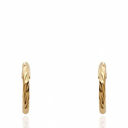 Boucles d'oreilles femme plaqué or Mynial ronde