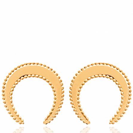 Boucles d'oreilles femme plaqué or Nagna arrondie