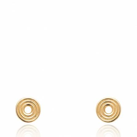 Boucles d'oreilles femme plaqué or Nuvy ronde