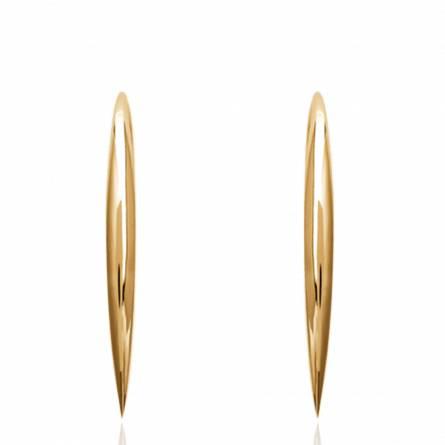 Boucles d'oreilles femme plaqué or Nyrelle