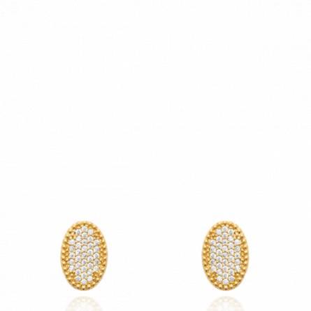 Boucles d'oreilles femme plaqué or Ozdian