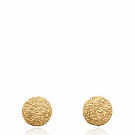 Boucles d'oreilles femme plaqué or Rojdi ronde