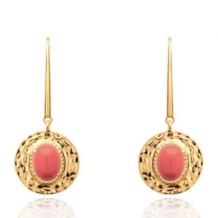 Boucles d'oreilles femme plaqué or Rumisa ronde