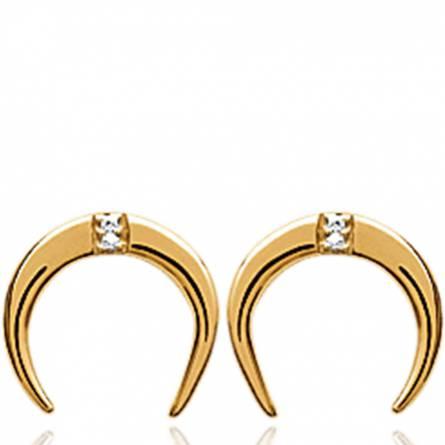 Boucles d'oreilles femme plaqué or Ruta arrondie