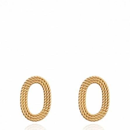 Boucles d'oreilles femme plaqué or Sallaba