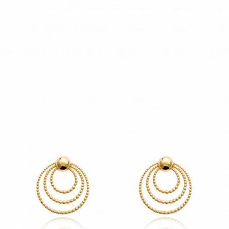 Boucles d'oreilles femme plaqué or Santinelli ronde