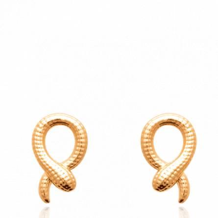 Boucles d'oreilles femme plaqué or Sertia